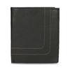 Leder-Geldbörse mit Steppnaht bata, Braun, 944-6148 - 26