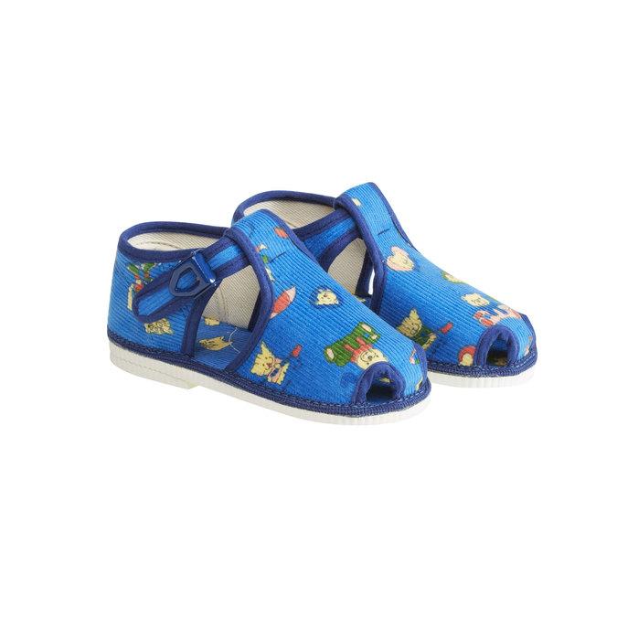 Knöchelhohe Kinder-Hausschuhe bata, Blau, 179-9210 - 26