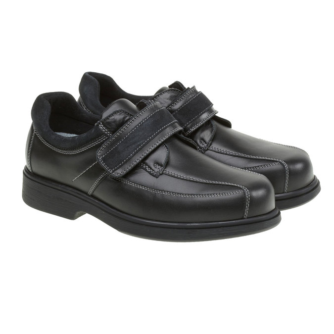 Leder-Sneakers, Schwarz, 834-6001 - 26