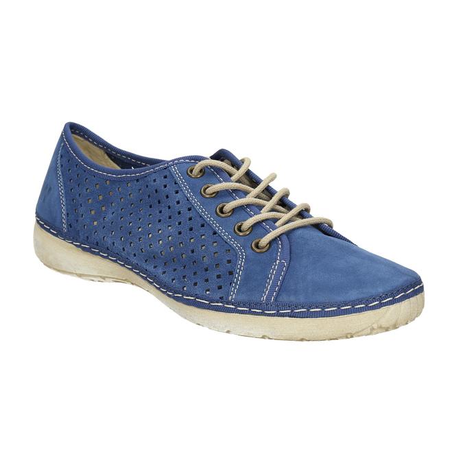 Sneakers aus Leder weinbrenner, Blau, 546-9238 - 13