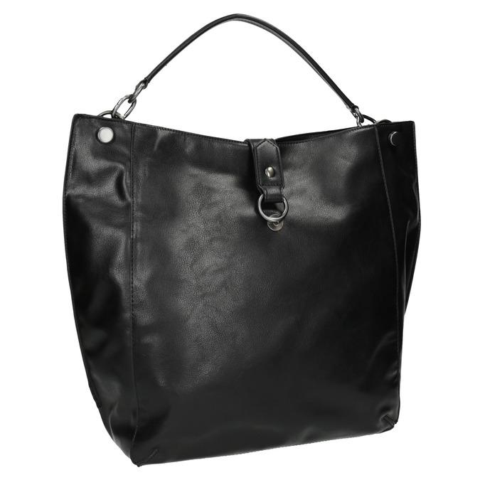 Schwarze Handtasche im Hobo-Stil bata, Schwarz, 961-6808 - 13