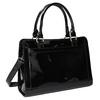 Schwarze Handtasche mit goldenen Details bata, Schwarz, 961-6610 - 13