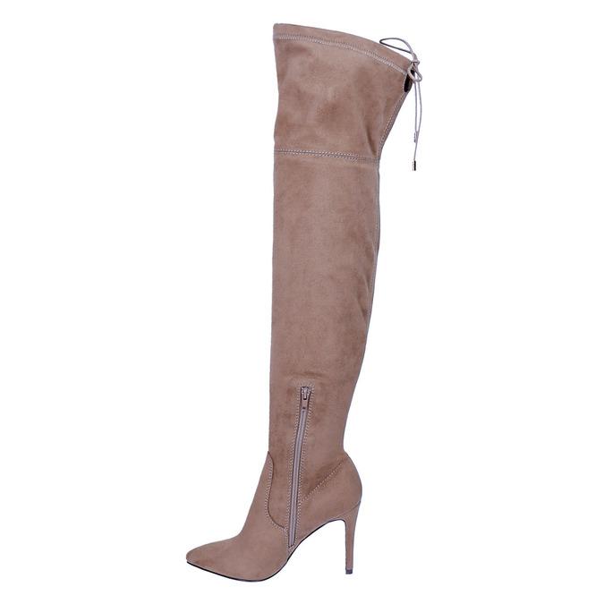 Damen-Overknee-Stiefel bata, Braun, 799-3600 - 19