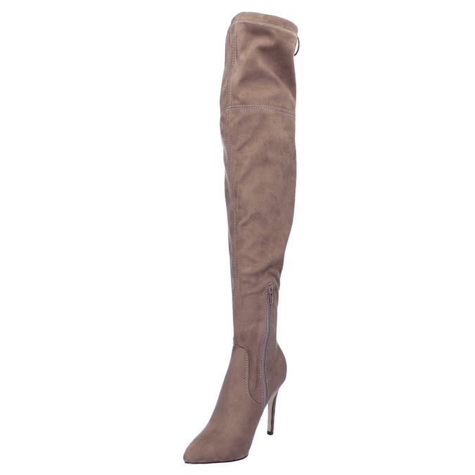 Damen-Overknee-Stiefel bata, Braun, 799-3600 - 26