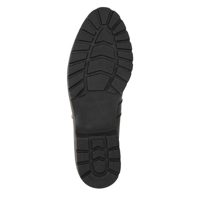 Chelsea Boots in Lackausführung mit markanter Sohle. bata, Schwarz, 591-6603 - 19