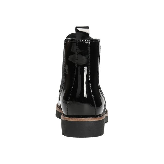 Chelsea Boots in Lackausführung mit markanter Sohle. bata, Schwarz, 591-6603 - 17