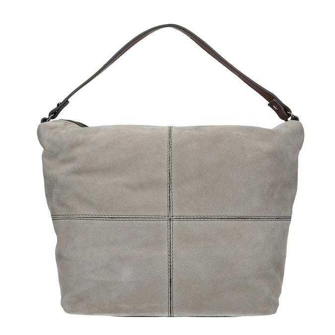 Lederhandtasche im Hobo-Stil bata, Grau, 963-2130 - 26