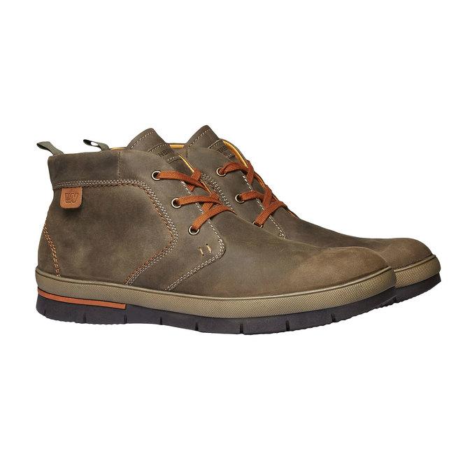 Leder-Sneakers weinbrenner, Braun, 894-2209 - 26