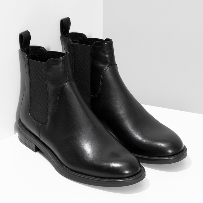 Schwarze Chelsea Boots aus Leder vagabond, Schwarz, 514-6007 - 26