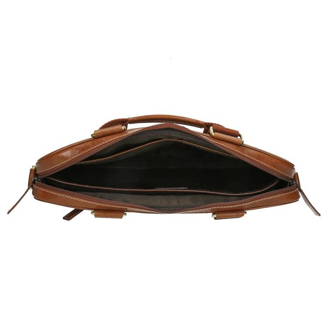 Braune Herrentasche aus Leder bata, Braun, 964-3204 - 15