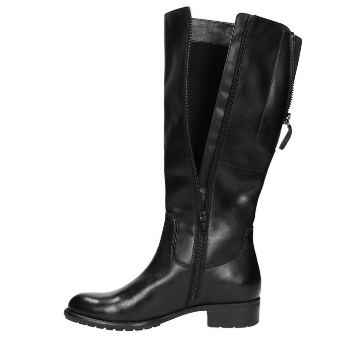 Schwarze Lederstiefel für Damen bata, Schwarz, 596-6604 - 26