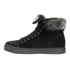 Knöchelhohe Leder-Sneakers mit Fell bata, Schwarz, 593-6601 - 26