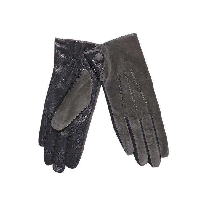 Damen-Lederhandschuhe bata, Grau, 903-2101 - 13