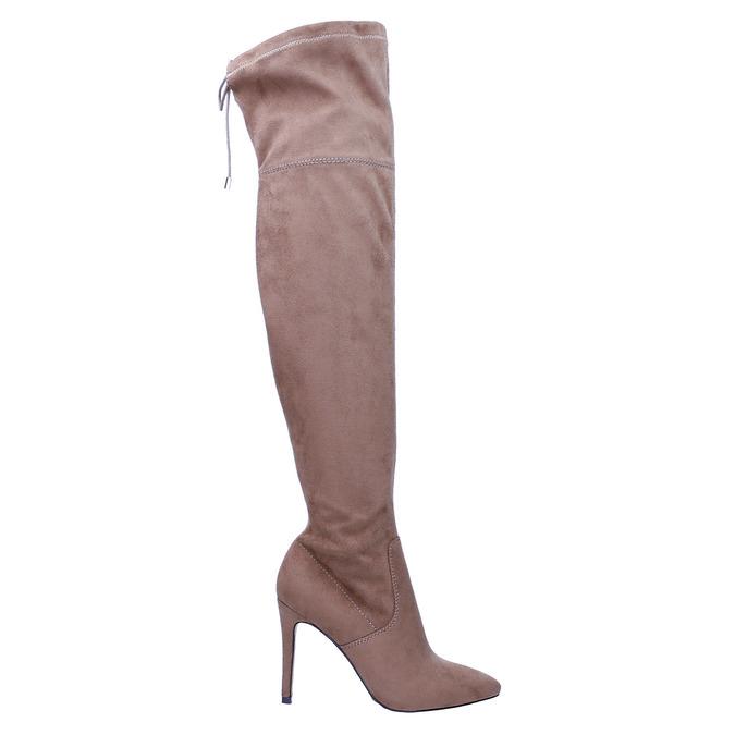 Damen-Overknee-Stiefel bata, Braun, 799-3600 - 15
