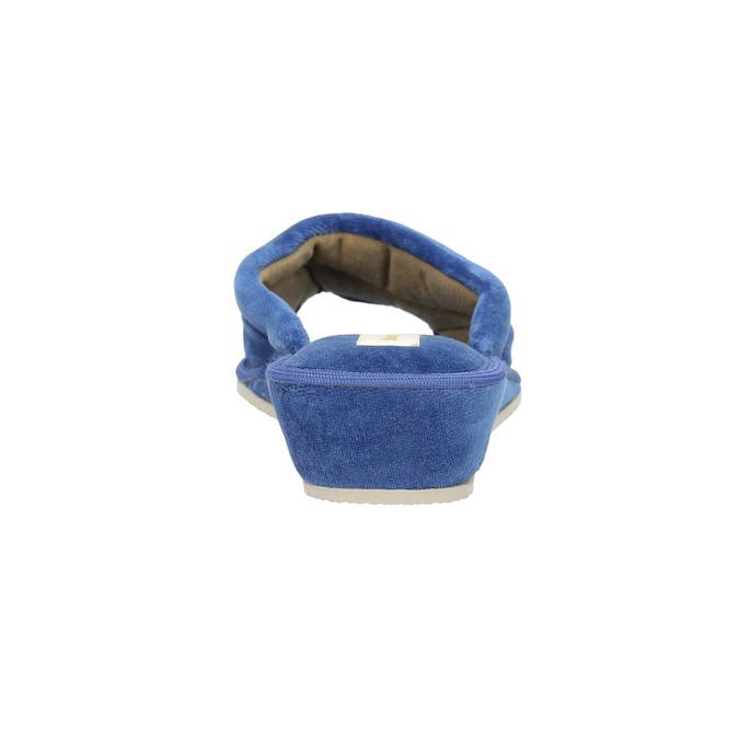 Damen-Hausschuhe bata, Blau, 679-9606 - 17