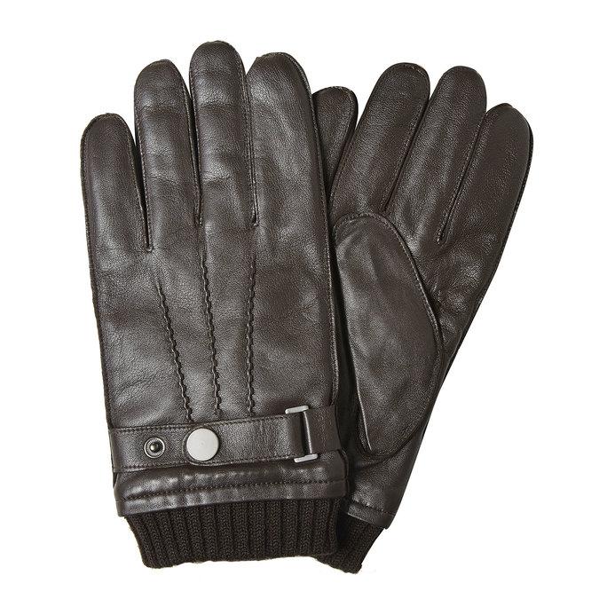 Lederhandschuhe für Herren bata, Braun, 904-4127 - 13