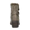Damen-Stiefeletten aus Leder bata, Grau, 699-2632 - 17