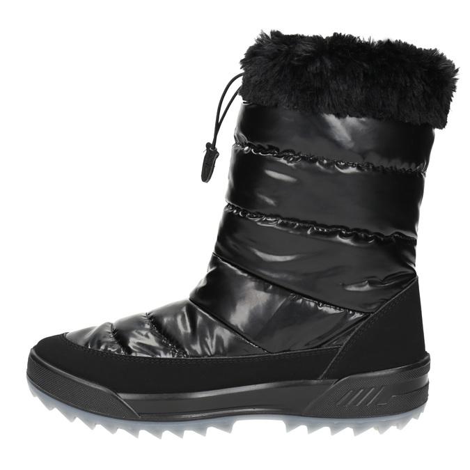 Schwarze Schneestiefel mit Fell weinbrenner, Schwarz, 591-6617 - 19
