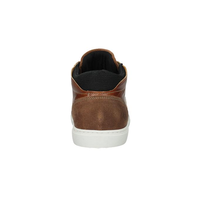 Knöchelhohe Sneakers aus Leder bata, Braun, 844-3631 - 17