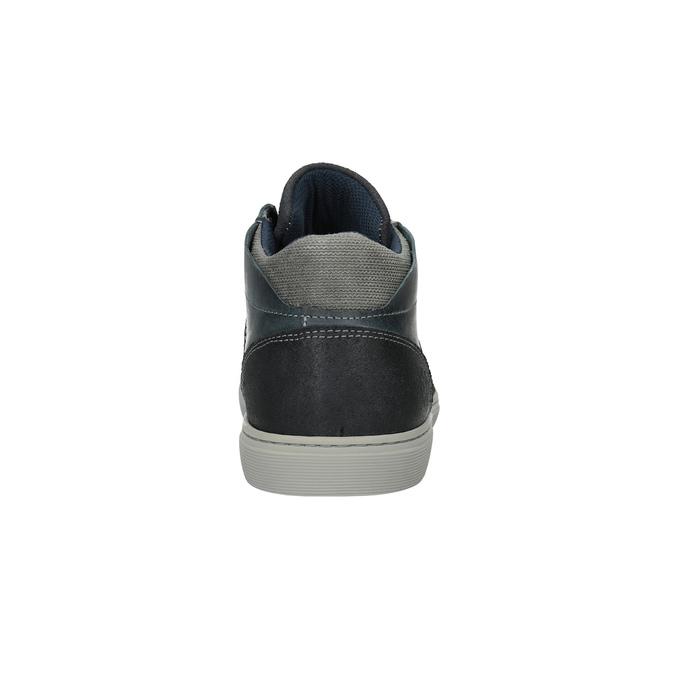 Knöchelhohe Herren-Sneakers aus Leder bata, Blau, 844-9631 - 17