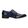 Blaue Lederhalbschuhe im Oxford-Look bata, Blau, 826-9822 - 15