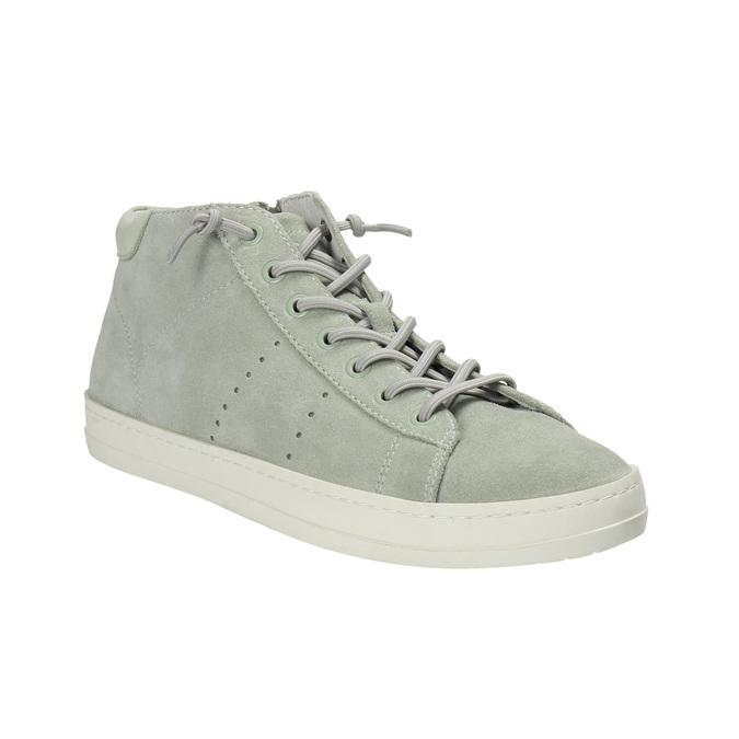 Knöchelhohe Damen-Sneakers aus Leder bata, Grűn, 523-7602 - 13