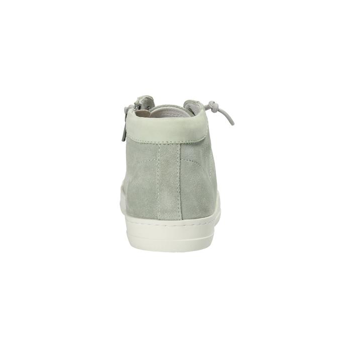 Knöchelhohe Damen-Sneakers aus Leder bata, Grűn, 523-7602 - 17