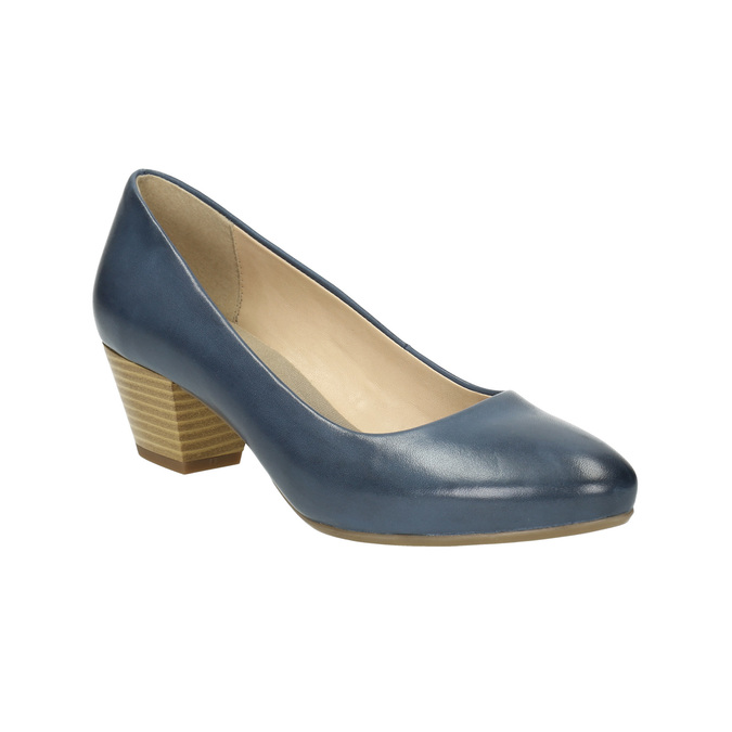 Pumps mit stabilem Absatz pillow-padding, Blau, 626-9637 - 13