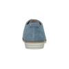 Blaue Leder-Halbschuhe bata, Blau, 523-9600 - 17