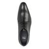 Schwarze Lederhalbschuhe im Derby-Look bata, Schwarz, 826-6804 - 19