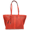 Rote Handtasche mit Perforation gabor-bags, Rot, 961-5080 - 26