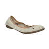 Leder-Ballerinas mit elastischem Rand bata, Beige, 526-8617 - 13
