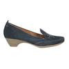 Damen-Leder-Mokassins der Weite H bata, Blau, 523-9603 - 15
