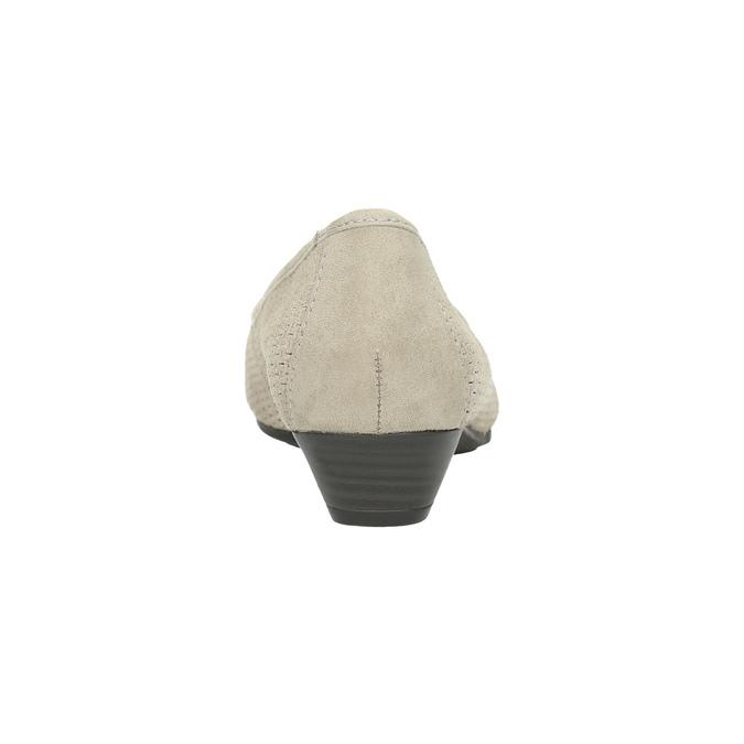 Lederpumps der Weite H bata, Grau, 623-2601 - 17