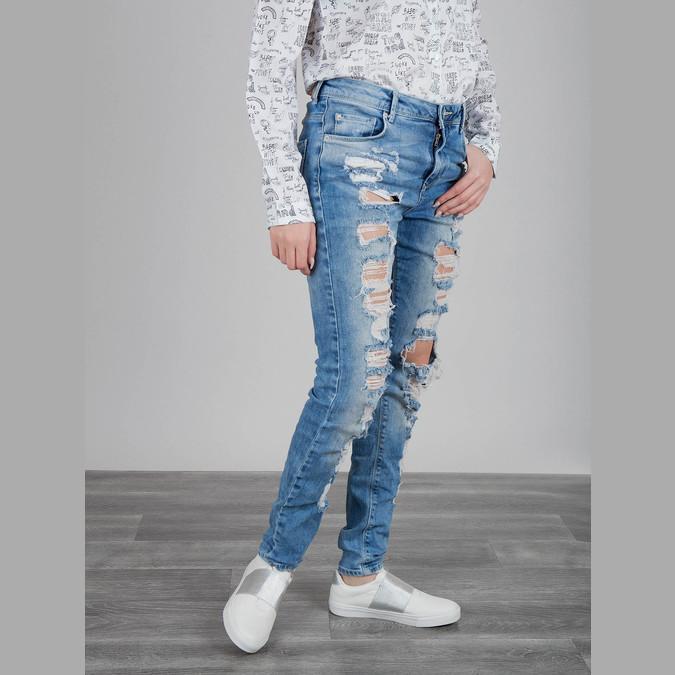Weisse Sneakers mit silbernem Streifen north-star, Weiss, 511-1602 - 18