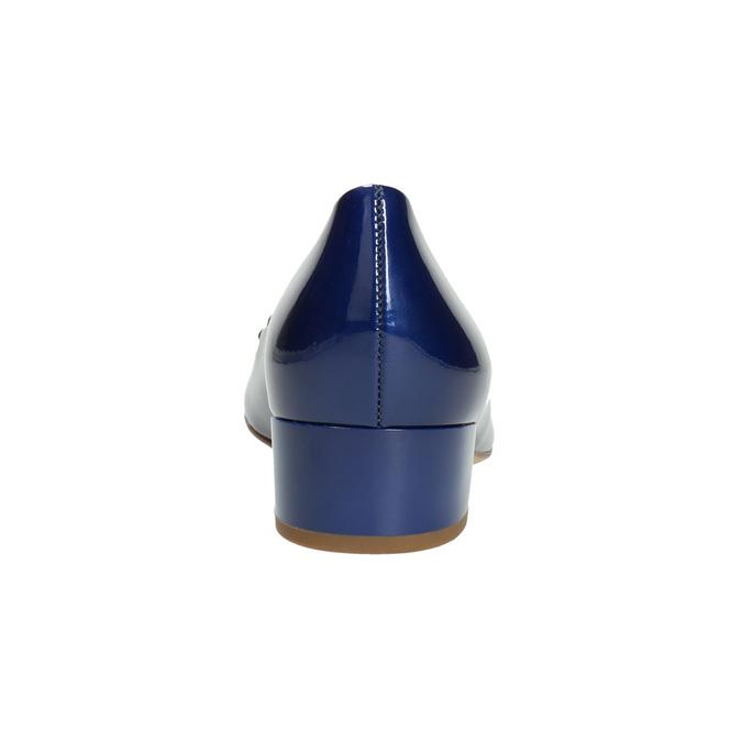 Lederpumps mit einem Schleifchen hogl, Blau, 628-9400 - 17