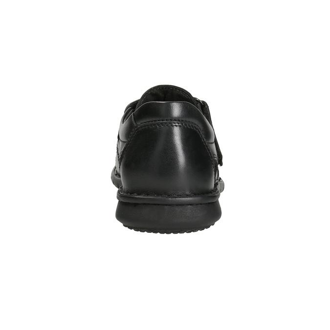 Schwarze Herrensandalen aus Leder bata, Schwarz, 864-6600 - 15