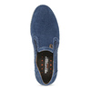 Slip-Ons aus geschliffenem Leder weinbrenner, Blau, 833-9601 - 17