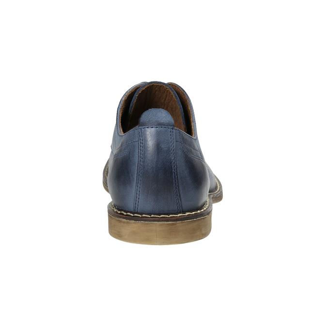 Blaue Lederhalbschuhe bata, Blau, 826-9601 - 17