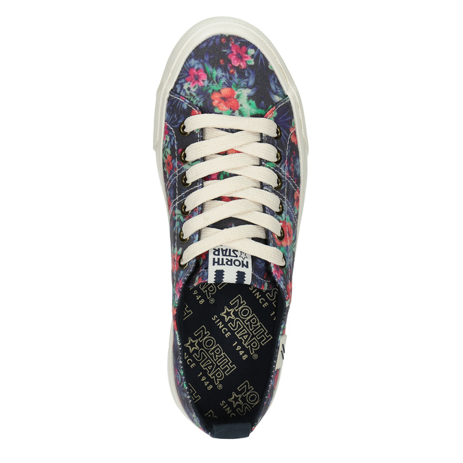 Damen-Sneakers mit Blumenmuster north-star, Schwarz, 589-6446 - 19