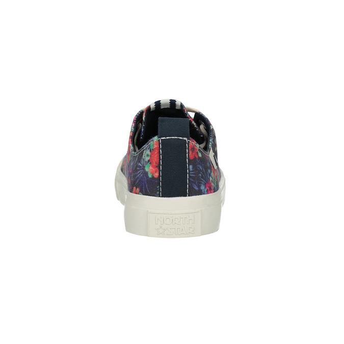 Damen-Sneakers mit Blumenmuster north-star, Schwarz, 589-6446 - 17
