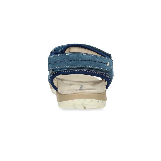 Damensandalen aus Leder weinbrenner, Blau, 566-9608 - 15