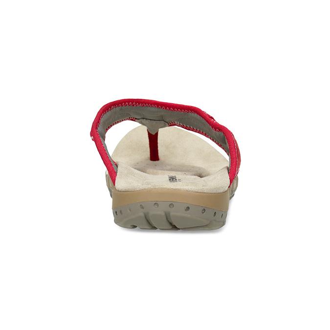 Damen-Flipflops mit markanter Sohle weinbrenner, Rot, 566-5611 - 15
