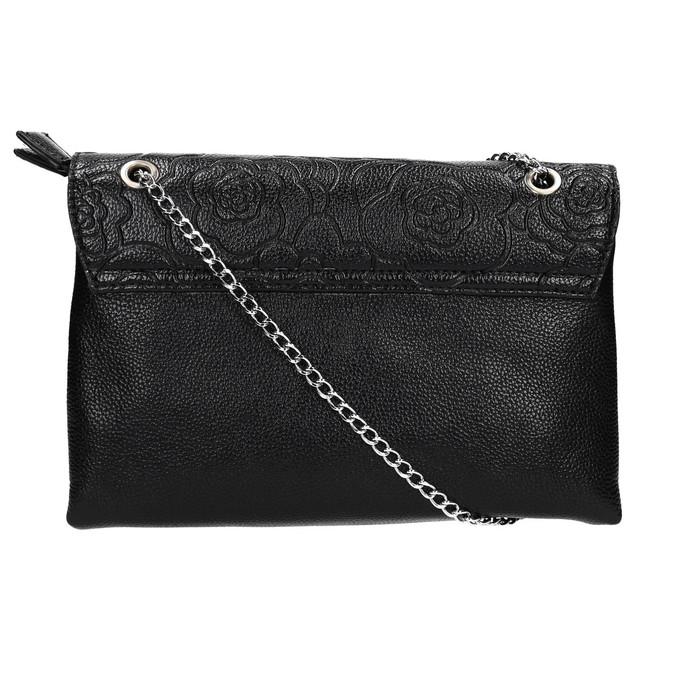 Kleinere schwarze Handtasche mit Klappe bata, Schwarz, 961-6731 - 19