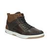 Knöchelhohe Sneakers aus Leder bata, Braun, 846-4640 - 13