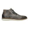 Graue Knöchelschuhe aus Leder bata, Grau, 826-2912 - 15