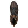 Knöchelhohe Sneakers aus Leder bata, Braun, 846-4640 - 26