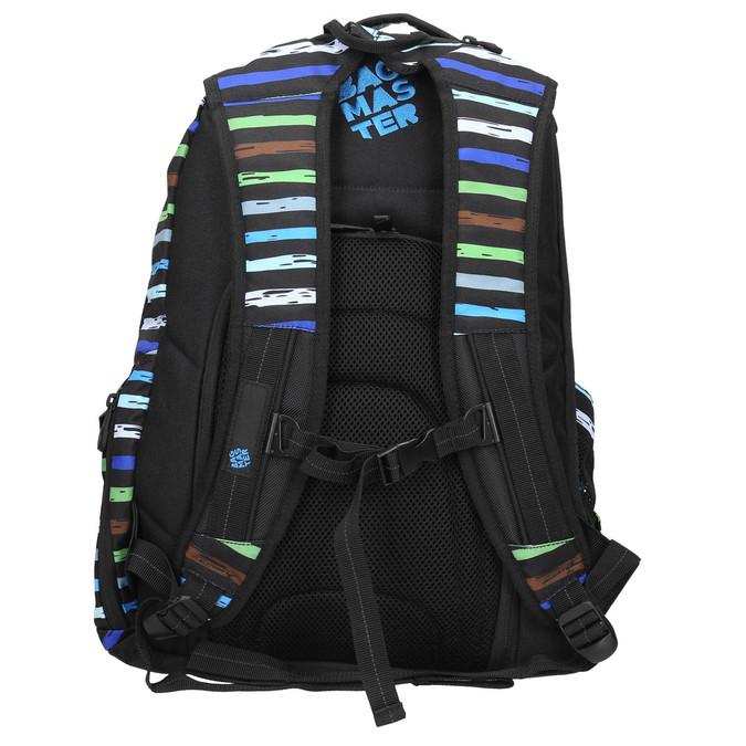 Schulrucksack mit Streifen bagmaster, Blau, 969-9651 - 19