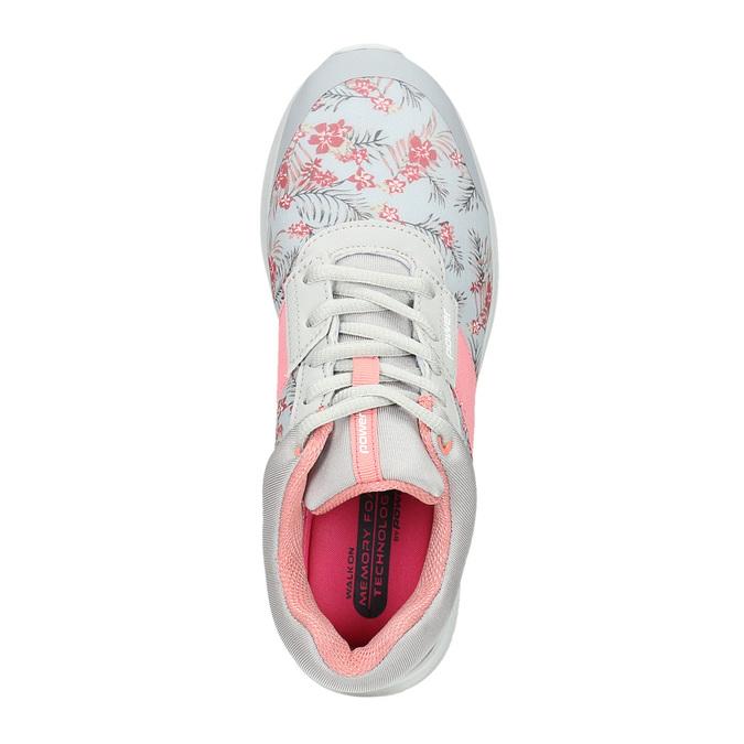 Sneakers mit Blumenmuster power, Grau, 509-2203 - 15