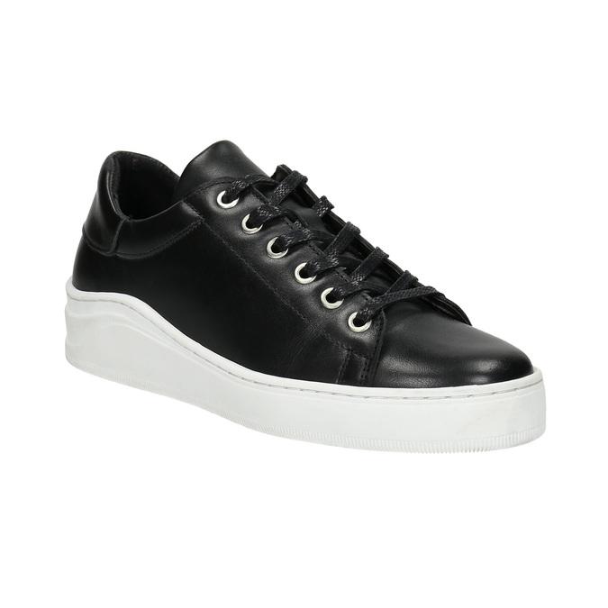 Leder-Sneakers mit markanter Sohle bata, Schwarz, 526-6641 - 13